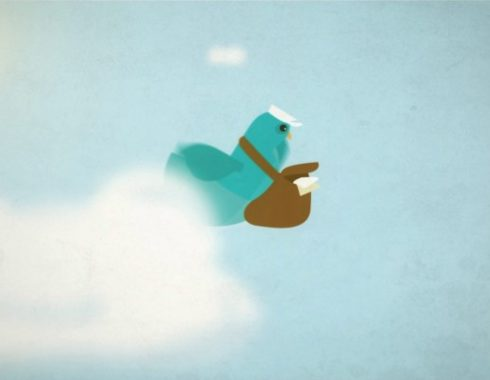 animated pigeon flying
