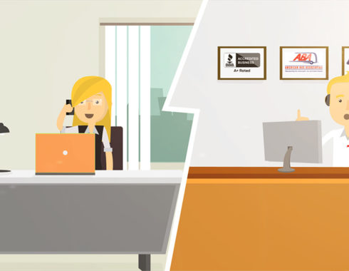 animated office
