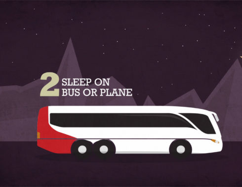 night animation bus