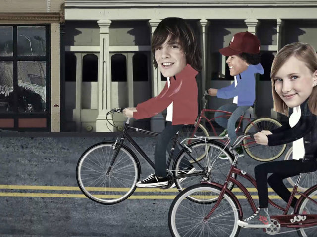 stop motion bicycle ride